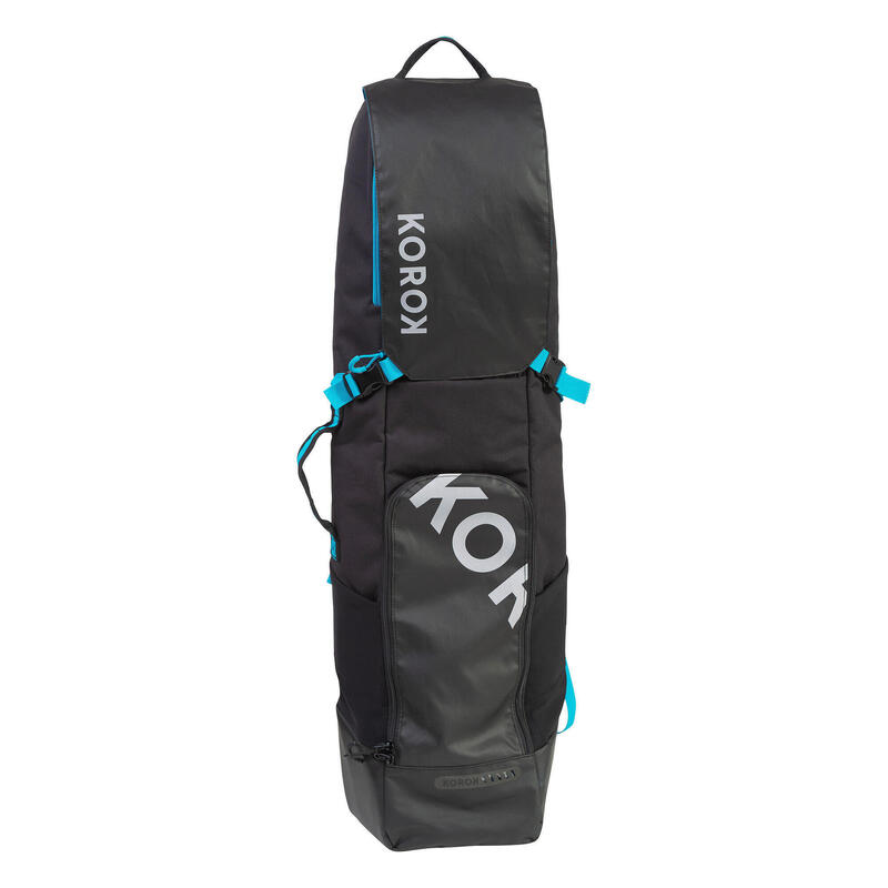 "Kids' Medium-Volume Field Hockey Stick Bag FH500 - Black/Blue (Stick->32"")"