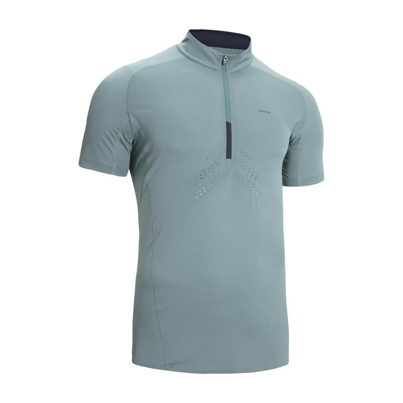Men's Fast Hiking Short-sleeved T-Shirt FH500 - Clay Green