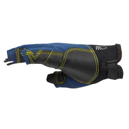 Kids' fingerless sailing gloves 500 - dark blue