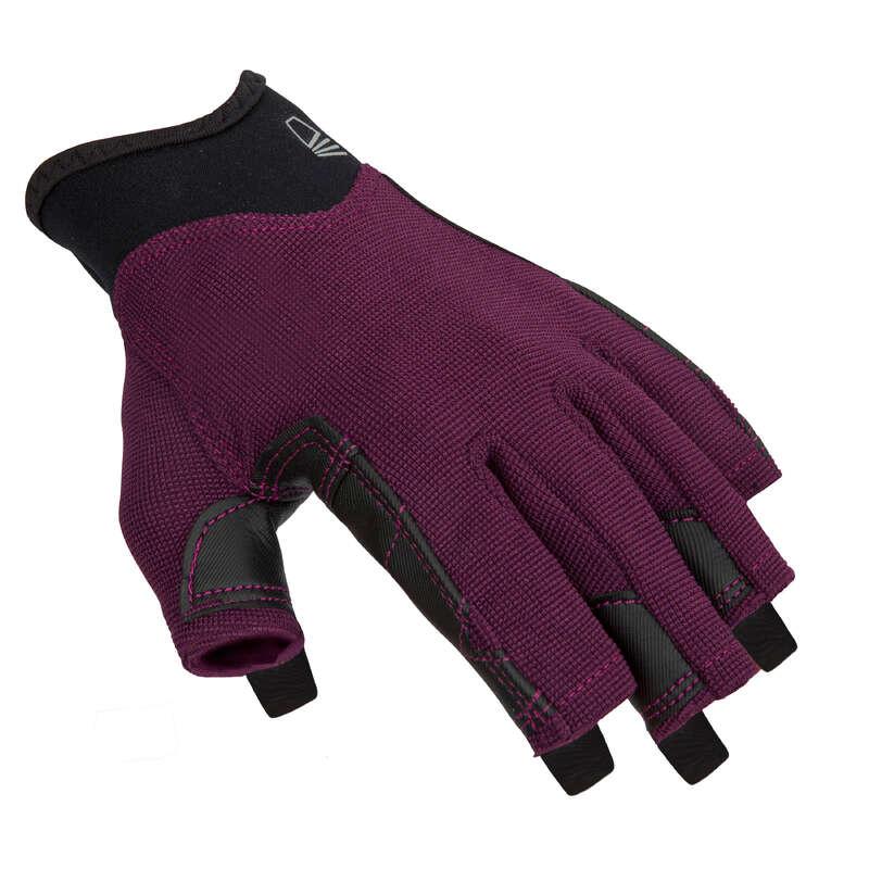 Segel Accessoires Segeln - Handschuhe Sailing 500 violett TRIBORD - Segelbekleidung