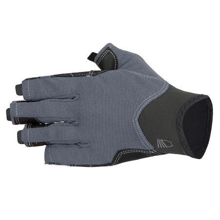 Adult fingerless sailing gloves 500 - dark grey