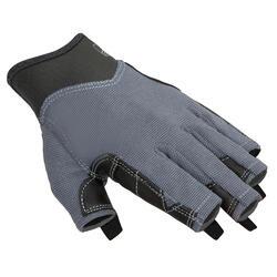 Luvas sem dedos de vela 500 Adulto Cinzento escuro