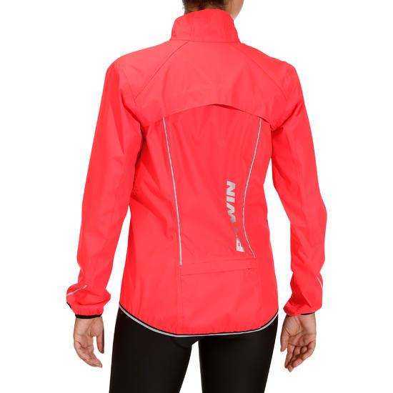 500 Women's Cycling Rain Jacket - Fluorescent Pink - Women's ...