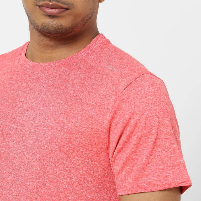 T-shirt Técnica de Cardio Training Vermelho Claro Mesclado
