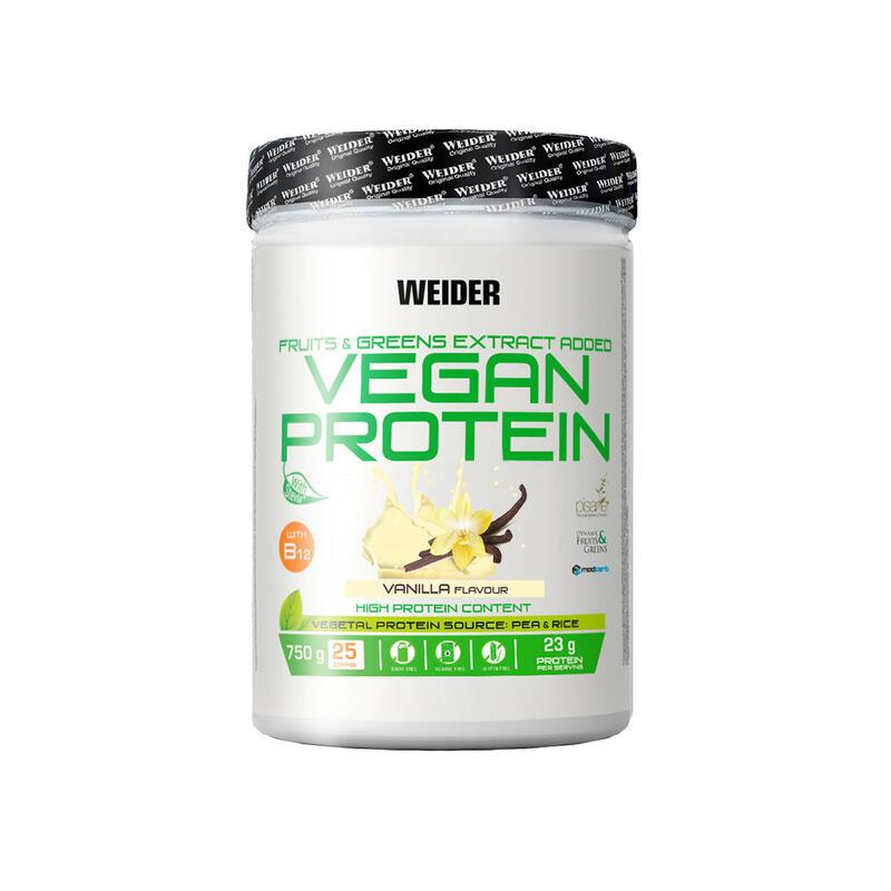 PROTEÍNA Weider VEGANA 24 g Proteina de guisante sabor vainilla 750 G