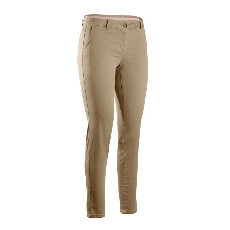 Pantalon de golf femme MW500 beige