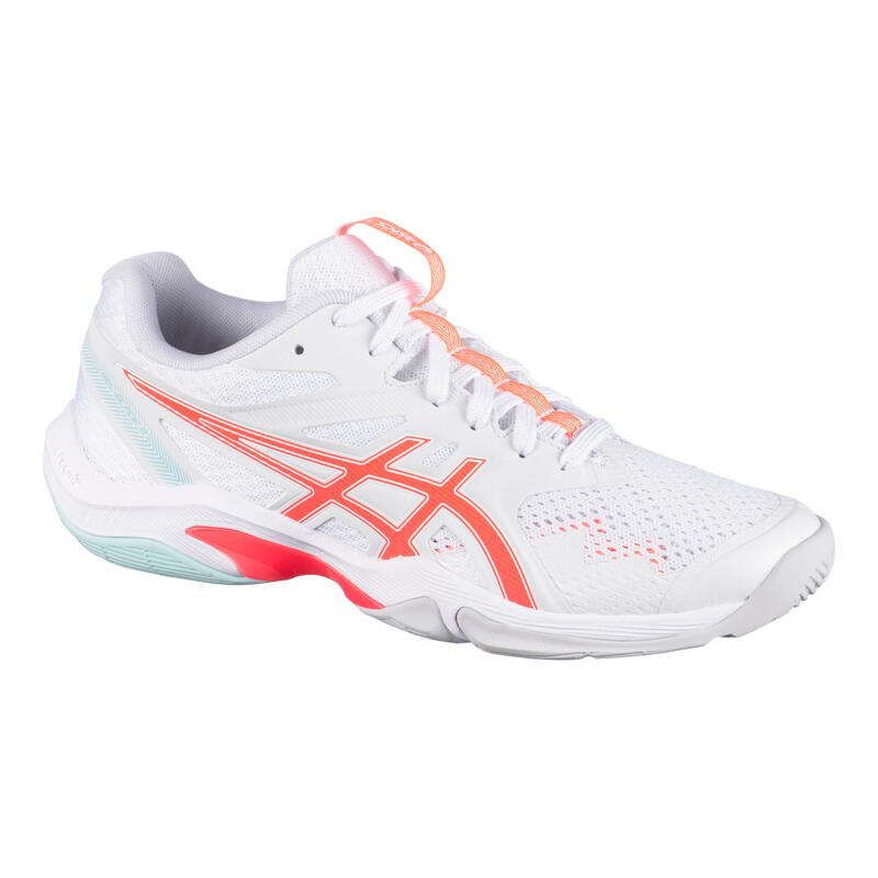 Badminton, Squash and Indoor Sports Shoes Gel-Blade 8 - White/Sunrise Red