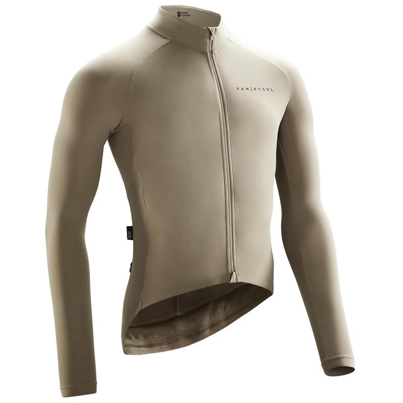MAILLOT VELO ROUTE MANCHES LONGUES RACER Sable