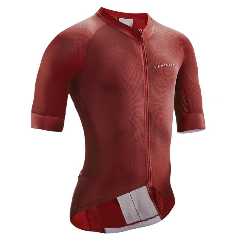 Men's Road Cycling Jersey Endurance Racer - Burgundy