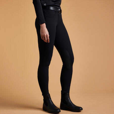500 moteriškos jojimo kelnės su kibiais įsiuvais