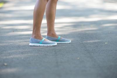 נעלי הליכת כושר לנשים Soft 520 - אפור/כחול