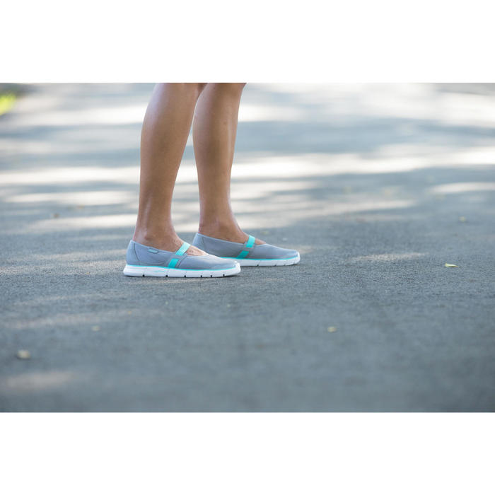 女款健走芭蕾舞鞋Soft 520-灰色/藍色