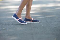 Damesballerina's Soft 520 voor sportief wandelen marineblauw/koraal - 201572