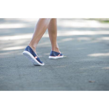 ballerines marche sportive femme 520 bleu marine corail. Black Bedroom Furniture Sets. Home Design Ideas