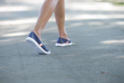 Damesballerina's Soft 520 voor sportief wandelen marineblauw/koraal - 201573