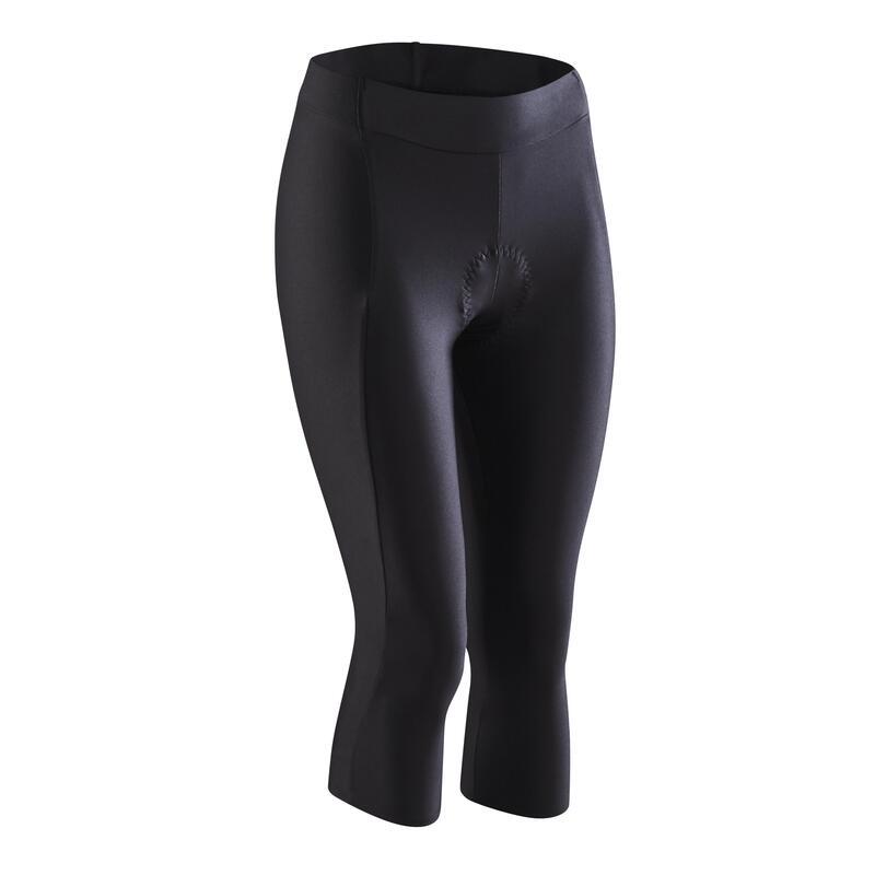 Dámské elastické 3/4 cyklistické kalhoty 100