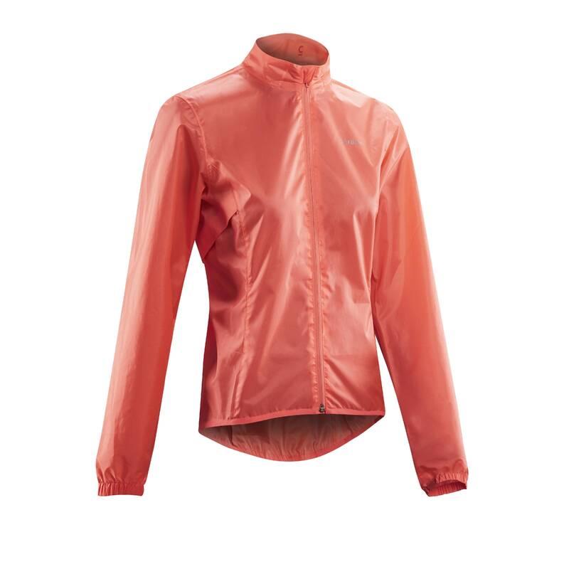 DÁMSKÉ OBLEČENÍ NA SILNIČNÍ CYKLISTIKU DO DEŠTIVÉHO POČASÍ Cyklistika - DÁMSKÁ CYKLO PLÁŠTĚNKA 100  TRIBAN - Cyklistické oblečení