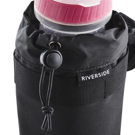 Fabric handlebar bottle cage.