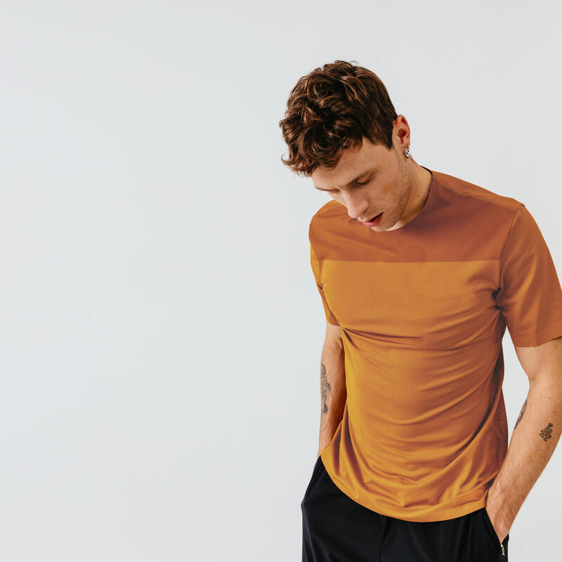 T-shirt running respirant et ventilé homme - Dry+ Breath marron ocre