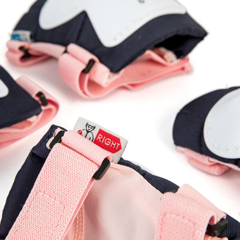 ชุดสนับป้องกันสำหรับเด็กเล่นอินไลน์สเก็ตรุ่น Play (สีชมพู Bridal)
