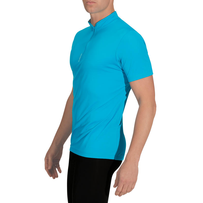 Buy cycling jersey 300 blue with pockets online 98bbacfe9