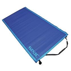Strandmat blauw 180x90 cm met draagriem