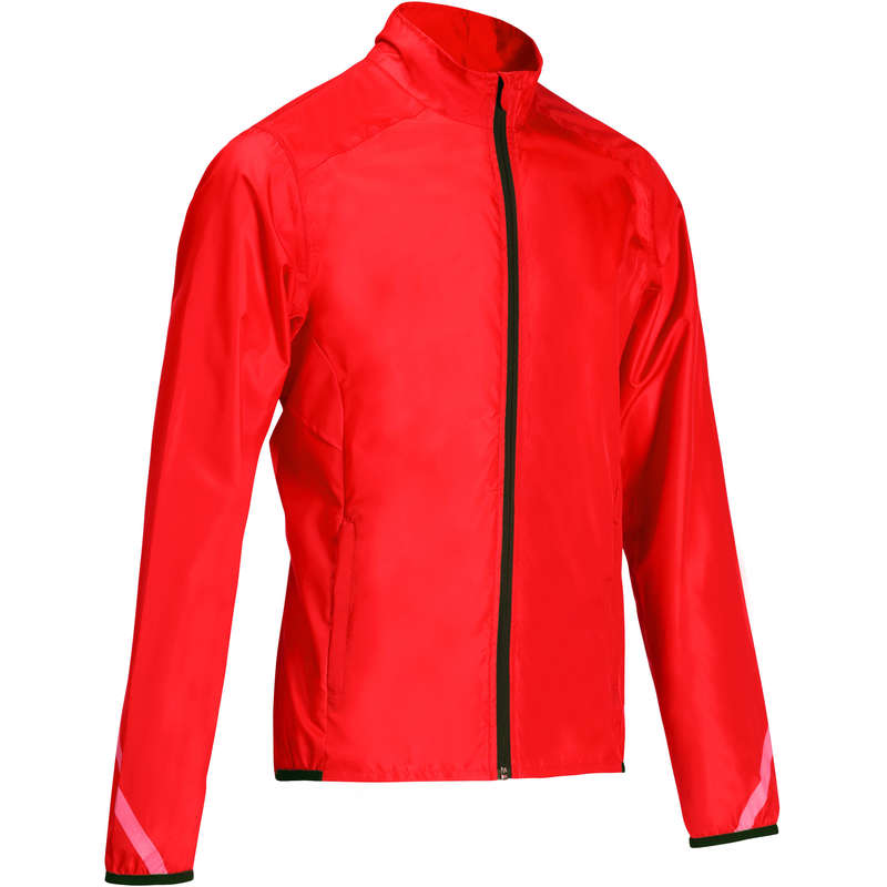 MEN WET WEATHER ROAD CYCLING APPAREL - 300 Waterproof Cycling Jacket - Red TRIBAN
