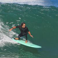 7 mm 7' (210 cm) Surfboard Leash Black