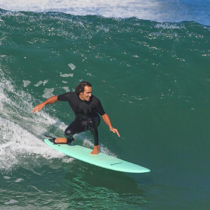 Surf-Leash 8' 240cm Durchmesser 7mm schwarz