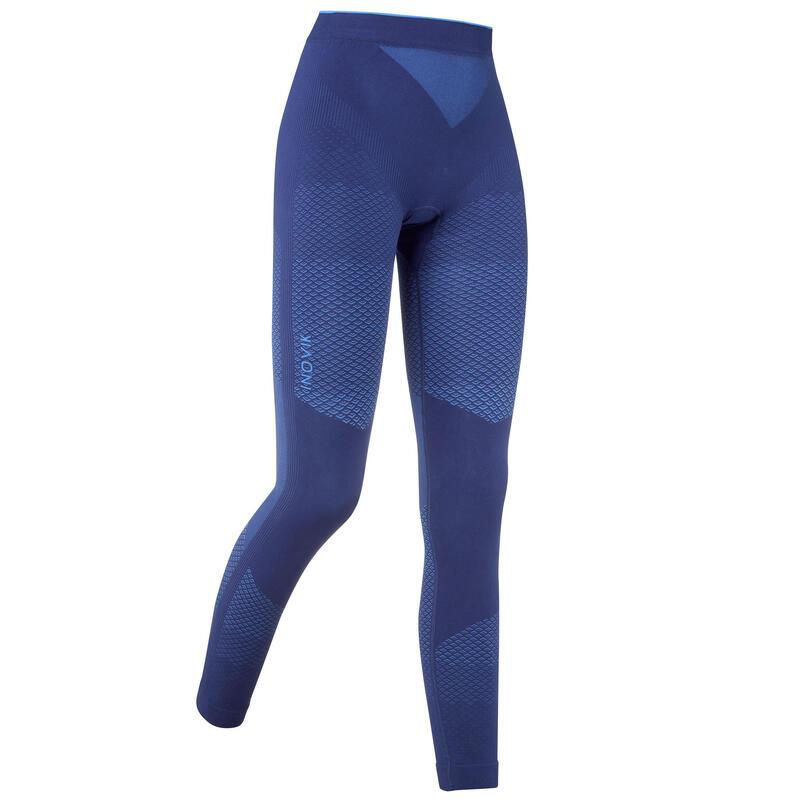 Pantalón térmico técnico de esquí de fondo azul XC S UW 900 mujer