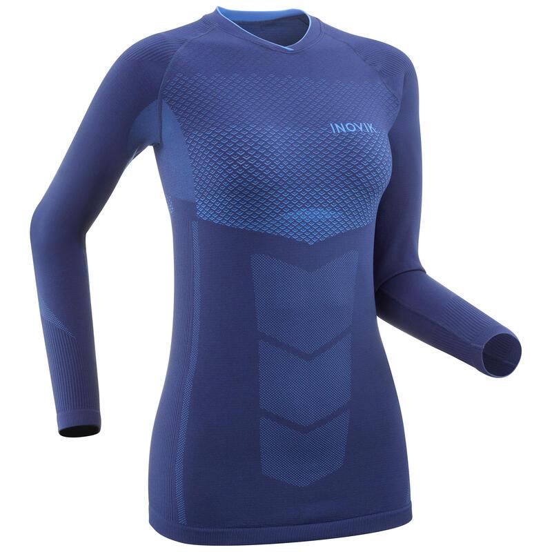 Haut de sous-vêtement technique de ski de fond bleu - XC S UW 900 femme