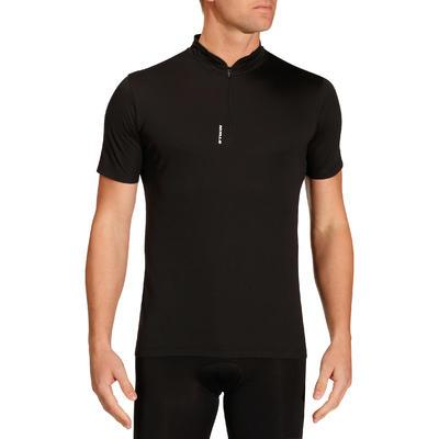 חולצה לרכיבה על אופניים בעלת שרוולים קצרים דגם Roadcycling 100 - שחור