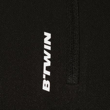 Pagrindiniai plento dviratininko marškinėliai trumpomis rankovėmis, juodi