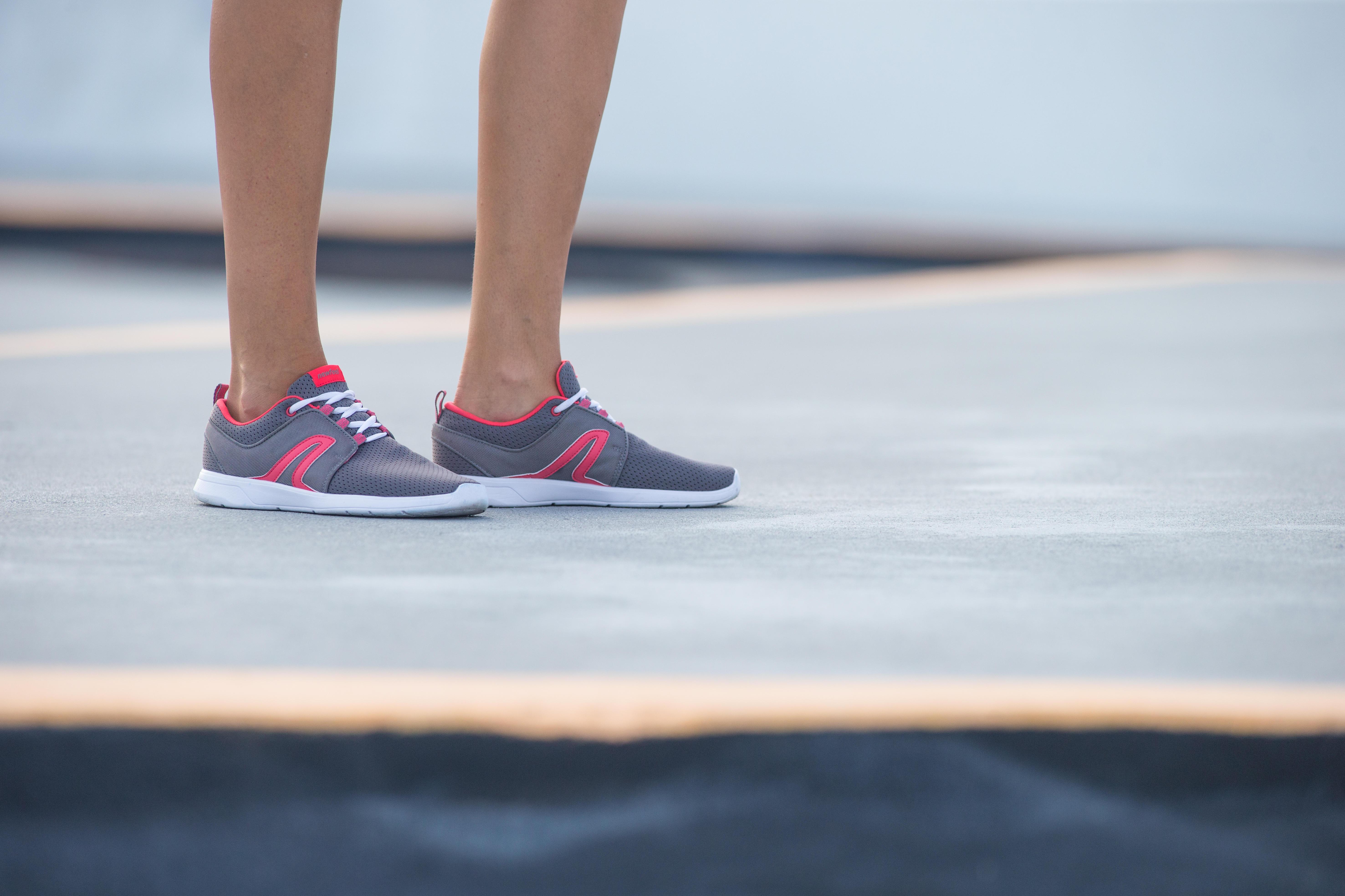 Walking shoes for women soft 140 mesh - Grey/Pink