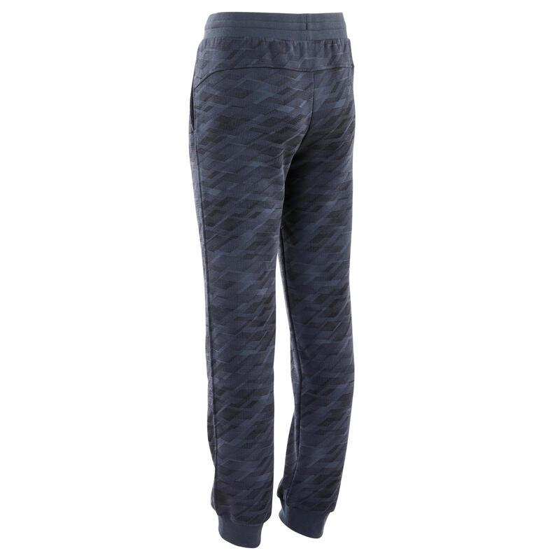 Pantalon de jogging basique à poches gris imprimé ENFANT