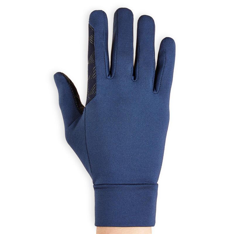 Gants d'équitation avec grip Enfant - 100 bleu