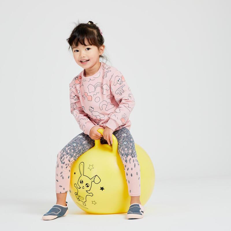 Sweat Decat'oons imprimé rose Baby Gym enfant