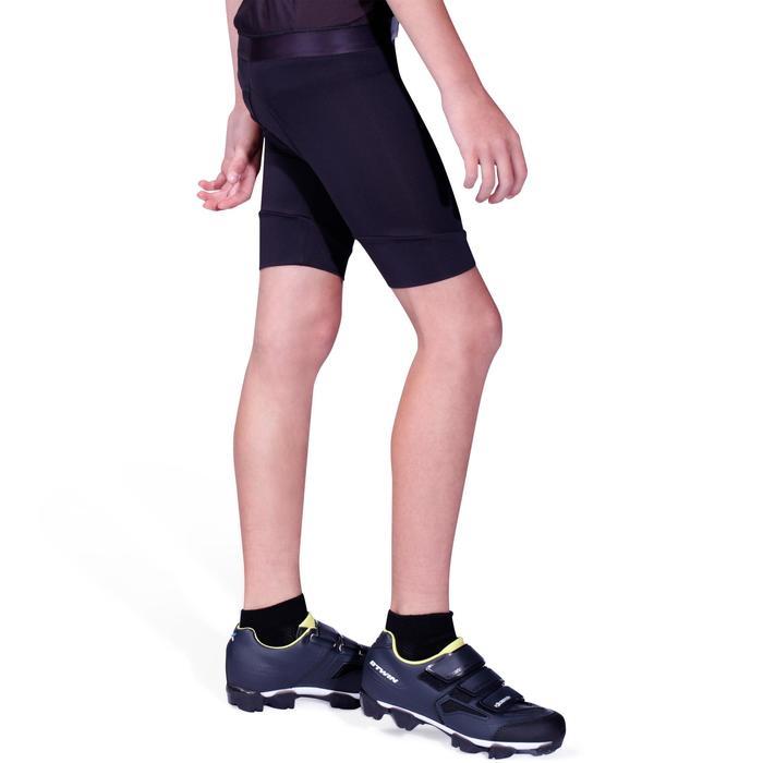 Kurze Radhose Rennrad 100 Kinder schwarz