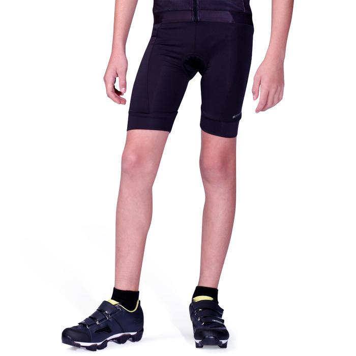 兒童款自行車短車褲100-黑色