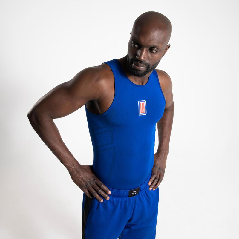 NBA LOS ANGELES CLIPPERS Erkek Basketbol İçliği - Mavi - UT500