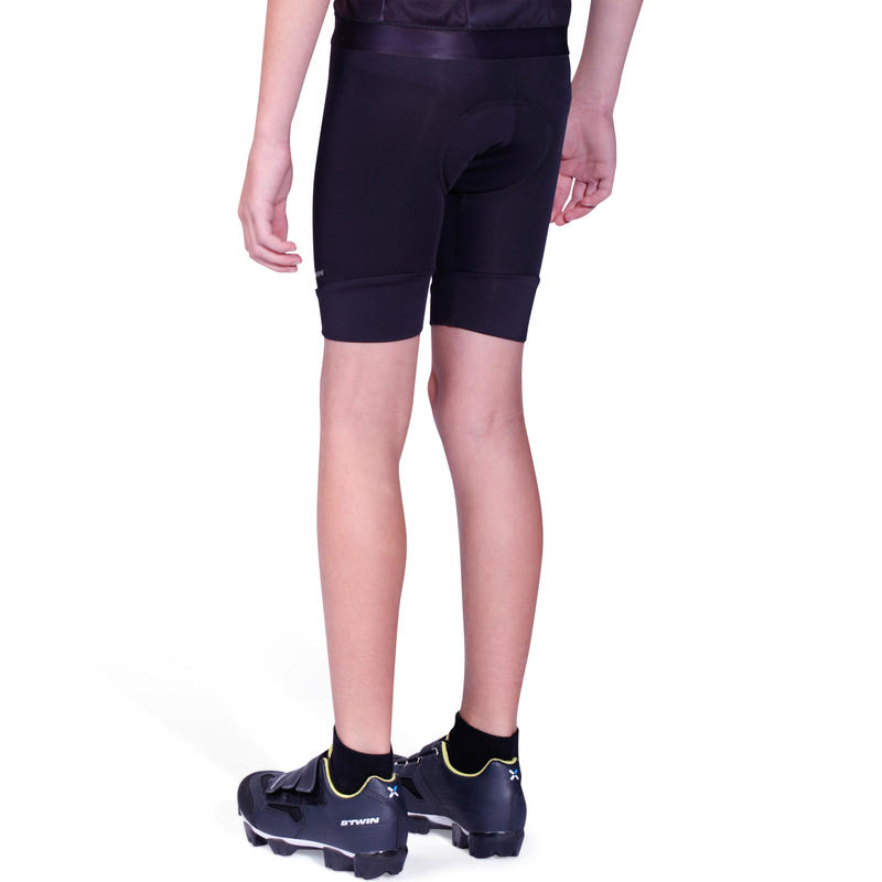 Kids' Cycling Shorts 100 - Black