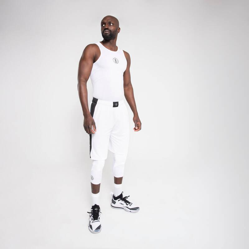 BASKETBALOVÉ OBLEČENÍ Basketbal - TÍLKO UT500 NBA NETS BÍLÉ TARMAK - Basketbalové oblečení a doplňky