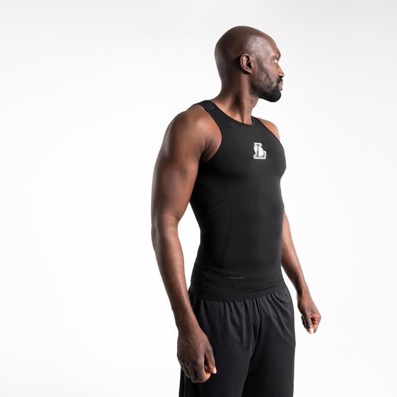 男款底層籃球背心UT500 - 黑色/NBA洛杉磯湖人隊