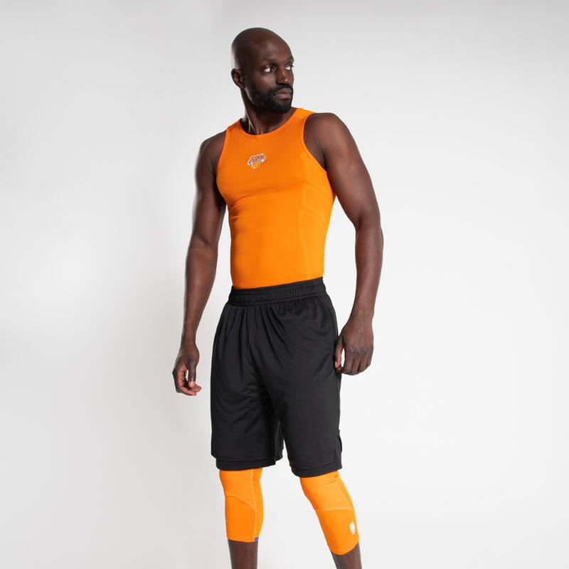 Canotta termica basket uomo UT500 NBA NEW YORK KNICKS arancione