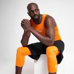 Men's Capri Basketball Leggings - Orange/NBA New York Knicks
