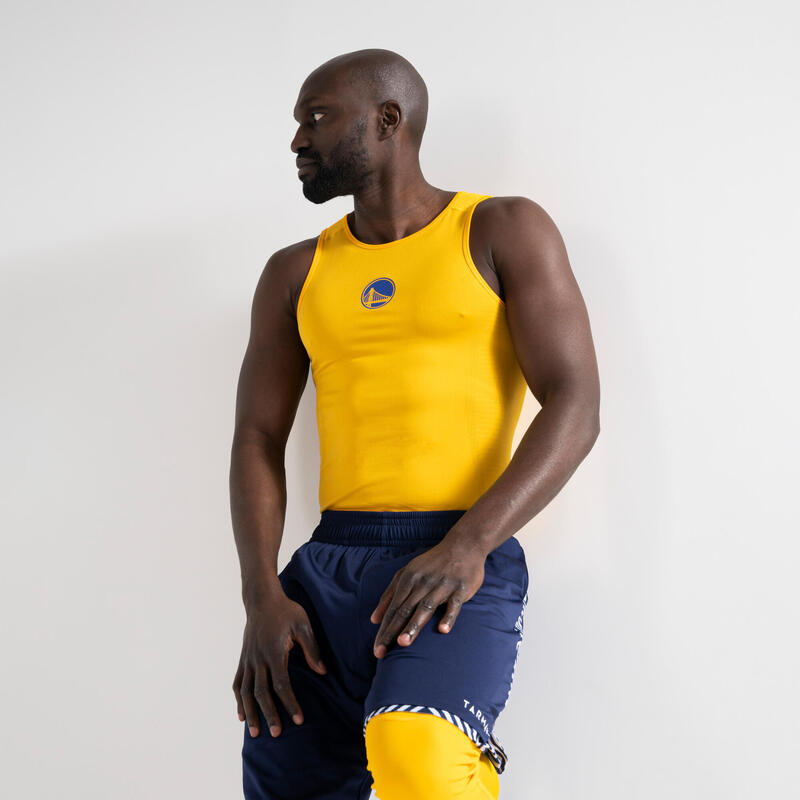SOUS MAILLOT BASKETBALL COUPE SLIM HOMME UT500 NBA GOLDEN STATE WARRIORS
