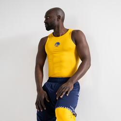 CAMISOLA TÉRMICA BASQUETEBOL CORTE SLIM UT500 NBA GOLDEN STATE WARRIORS HOMEM