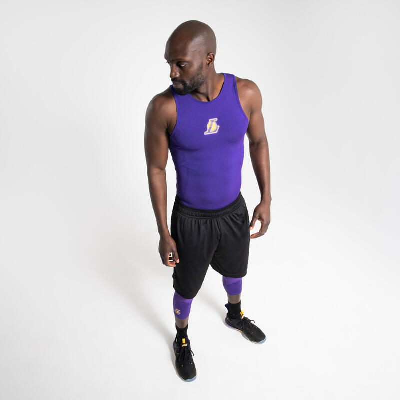 SOUS MAILLOT BASKETBALL COUPE SLIM HOMME UT500 NBA LOS ANGELES LAKERS