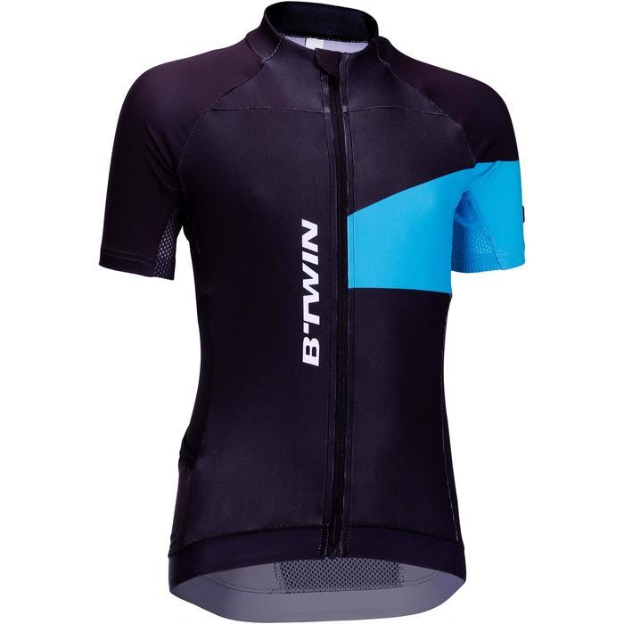 Maillot manches courtes vélo enfant 700 bleu - 201832