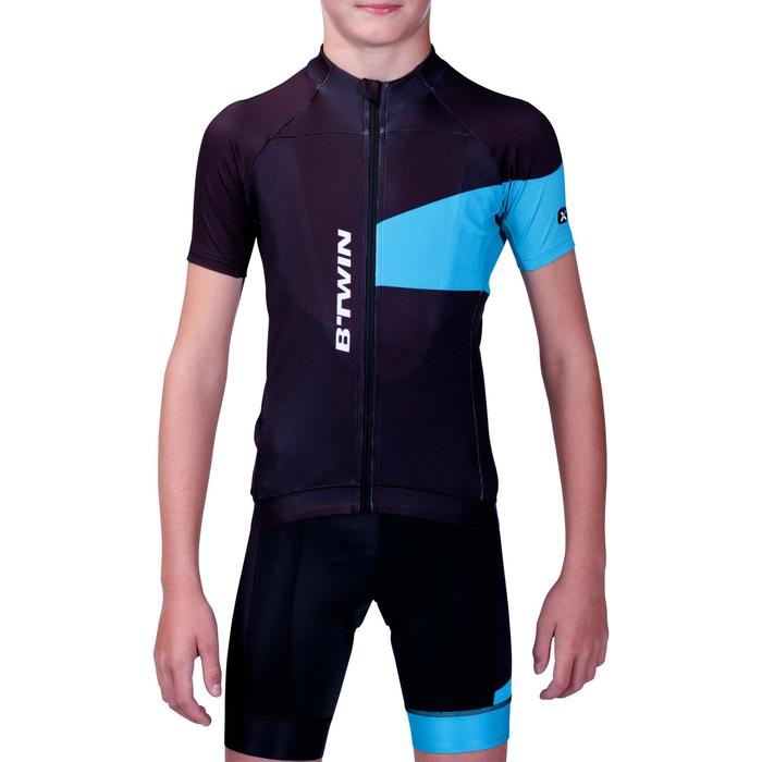 Maillot manches courtes vélo enfant 700 bleu - 201834